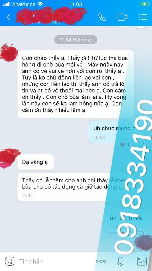 Cách thỉnh bùa yêu của thầy Pá Vi là nhắn tin