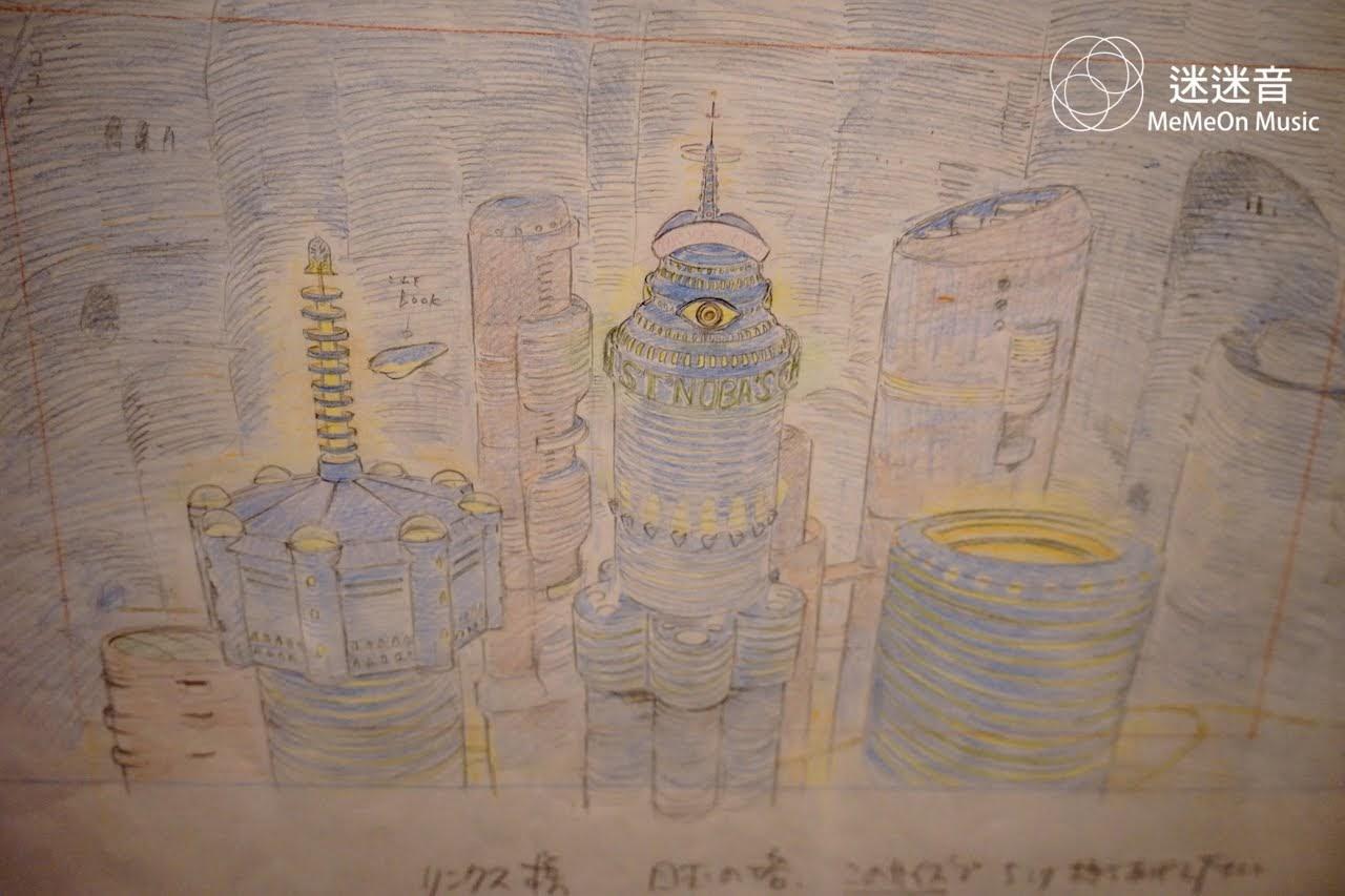 宮崎駿在1995年為日本雙人組合樂隊恰克與飛鳥的《ON YOUR MARK Ghibli實驗劇場》製作的音樂短片之LAYOUT構圖