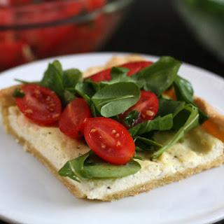 Heirloom Tomato Salad Over Cornmeal-Pepper Crust