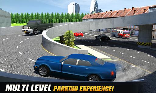 マルチレベルのレーシングカーの駐車場