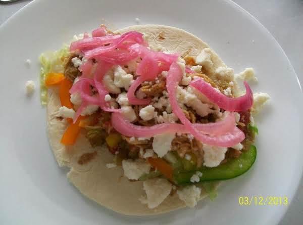 Mexicana Chicken Soup Soft Tacos! Recipe