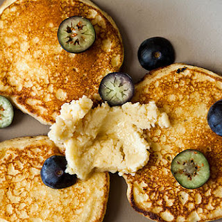 Ricotta Hotcakes with Maple Butter.