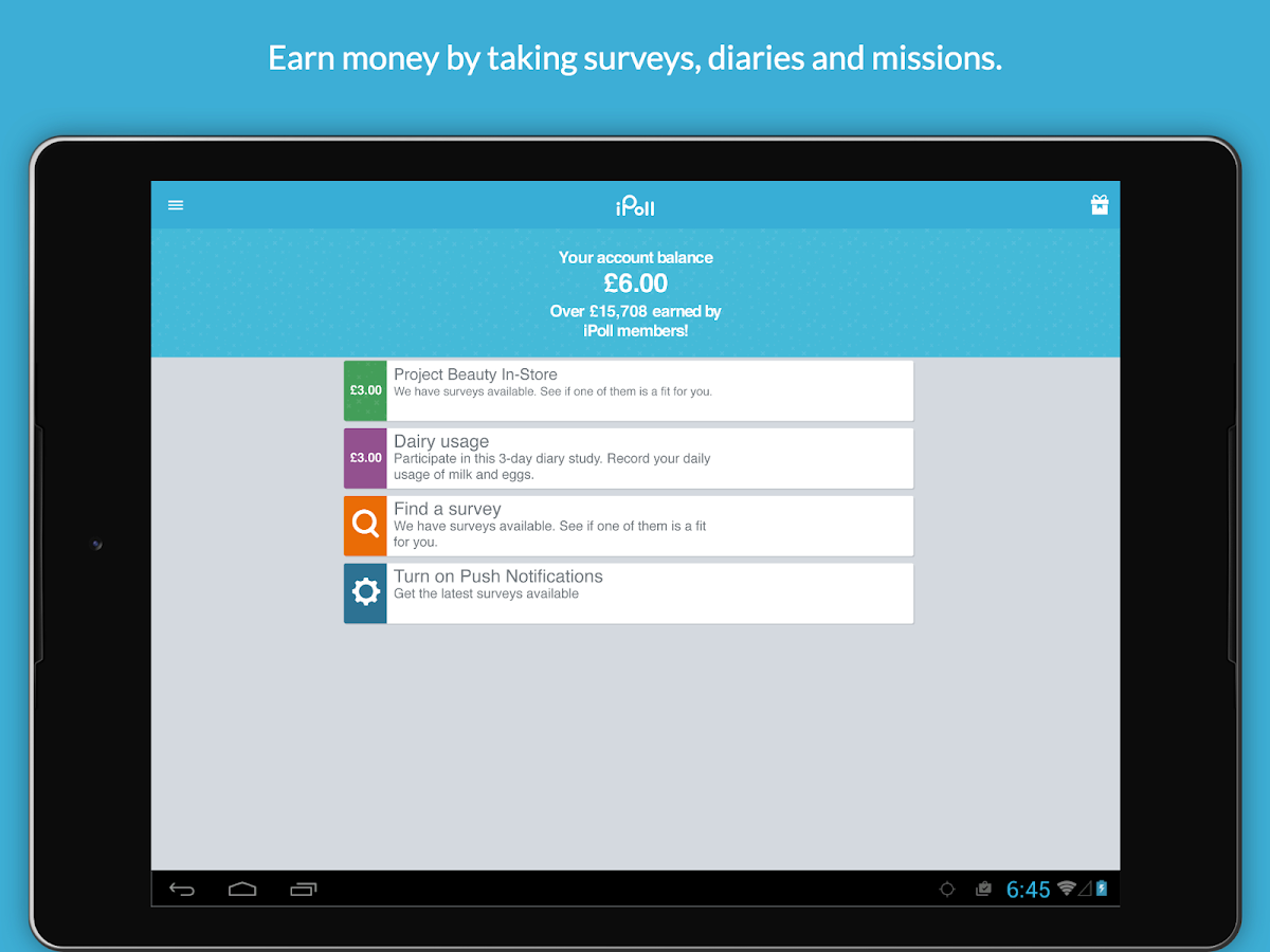 iPoll – Make money on surveys- screenshot