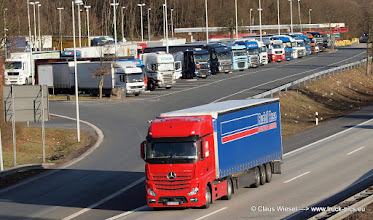 """Photo: NEW ACTROS """"RUDOLF ROSE""""        -----> just take a look and enjoy www.truck-pics.eu"""