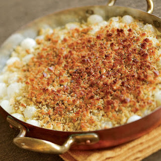 Pearl Onion Gratin with Parmesan, Savory & Thyme Recipe