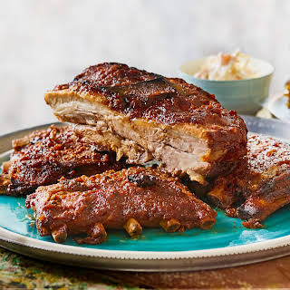 Slow-braised Ribs With Pineapple Bbq Sauce.