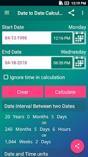 Date Calculator Pro Screenshot
