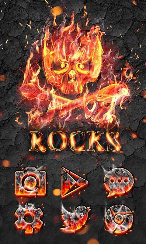Rocks GO Launcher Theme- screenshot