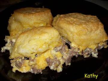 Sausage Egg & Cheese Biscuit Casserole