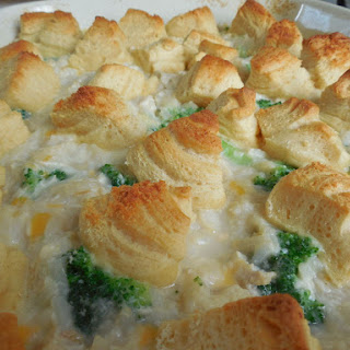 Chicken & Rice Crescent Topped Casserole.