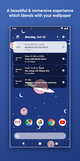 Screenshot for Calendar Widget by Home Agenda  in United States Play Store