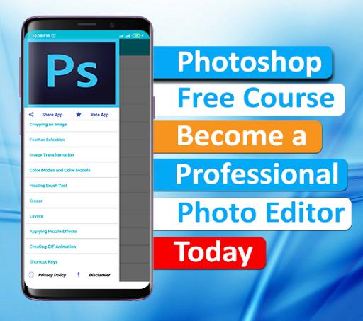 photoshop tutorial - complete course - offline screenshot 1