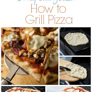 Grilled Pizza with Chicken, Bacon and Smoked Mozzarella.