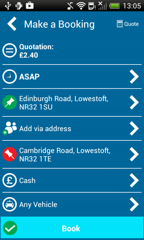 Atlas Taxi Booker Lowestoft- screenshot