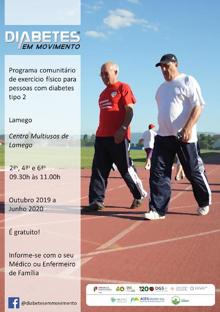 Programa de exercício físico em Lamego para controlar diabetes tipo 2
