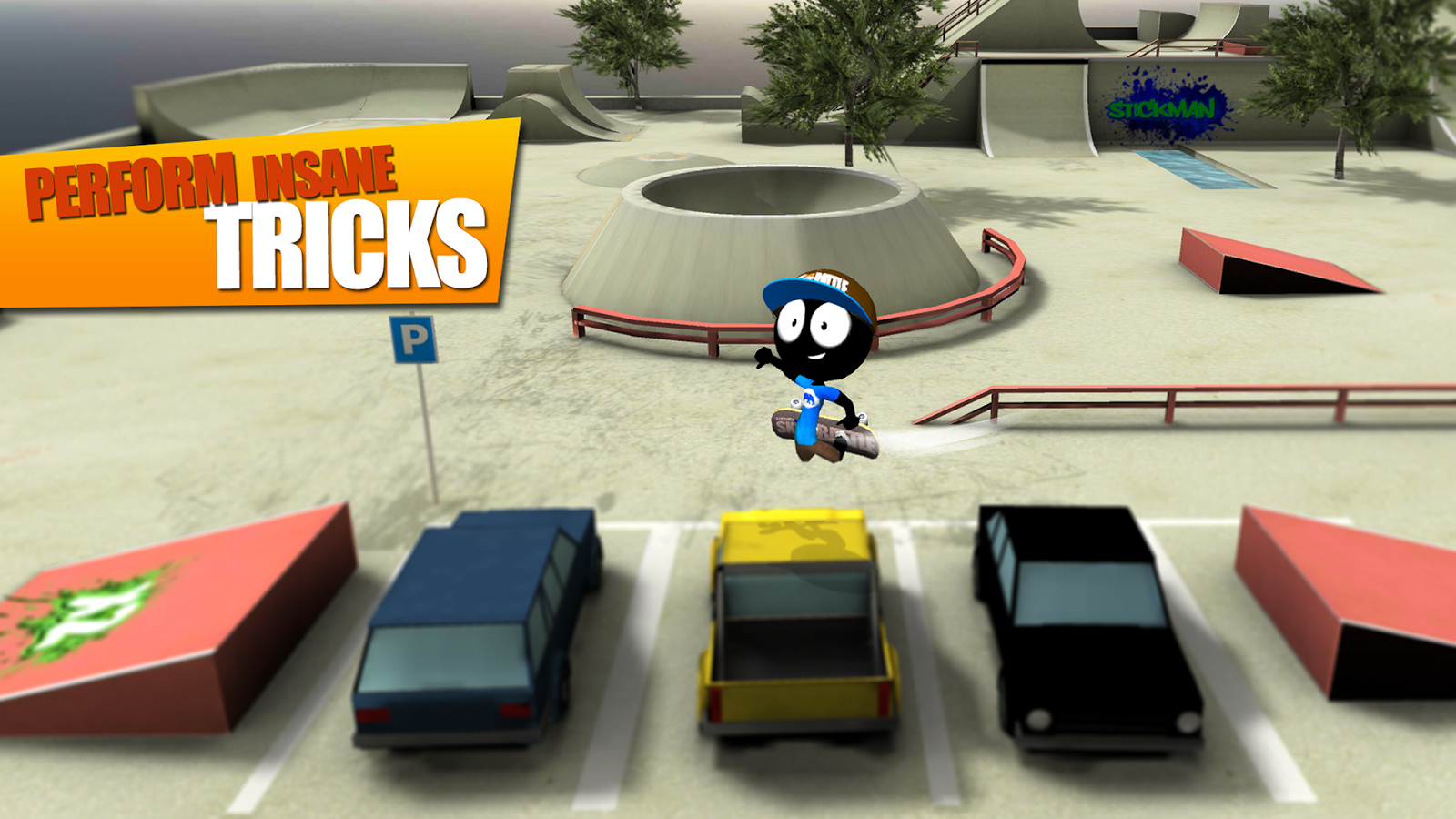 Stickman Skate Battle- screenshot