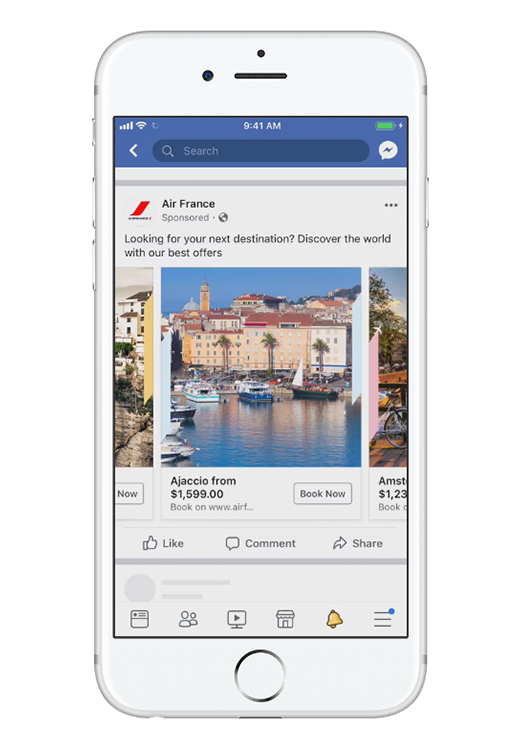 Facebook Ad Size Carousel Ad