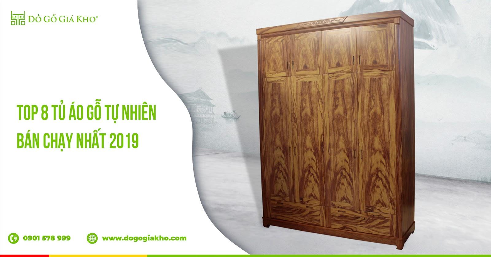 Top 8 tủ áo gỗ tự nhiên bán chạy nhất 2019