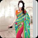 Indian Woman  Designer Saree icon
