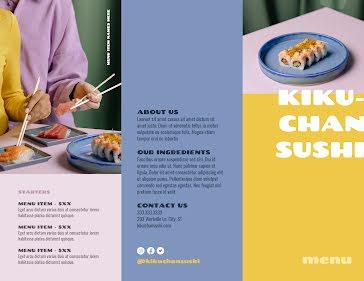 Kiku-Chan Sushi - Trifold Brochure template