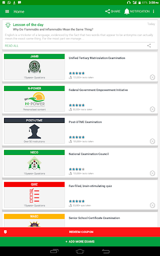 PASS.NG (Post-JAMB 2018, JAMB UTME, WAEC, NECO) 2.10.06 screenshots 9