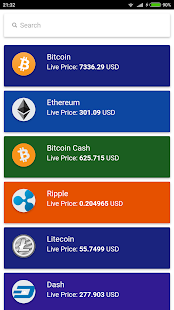 CryptoClub: CryptoCurrency Live Prices - náhled
