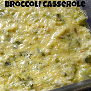 Quick and Easy Broccoli Rice Casserole.