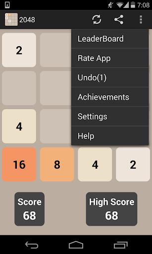 2048 screenshot 2