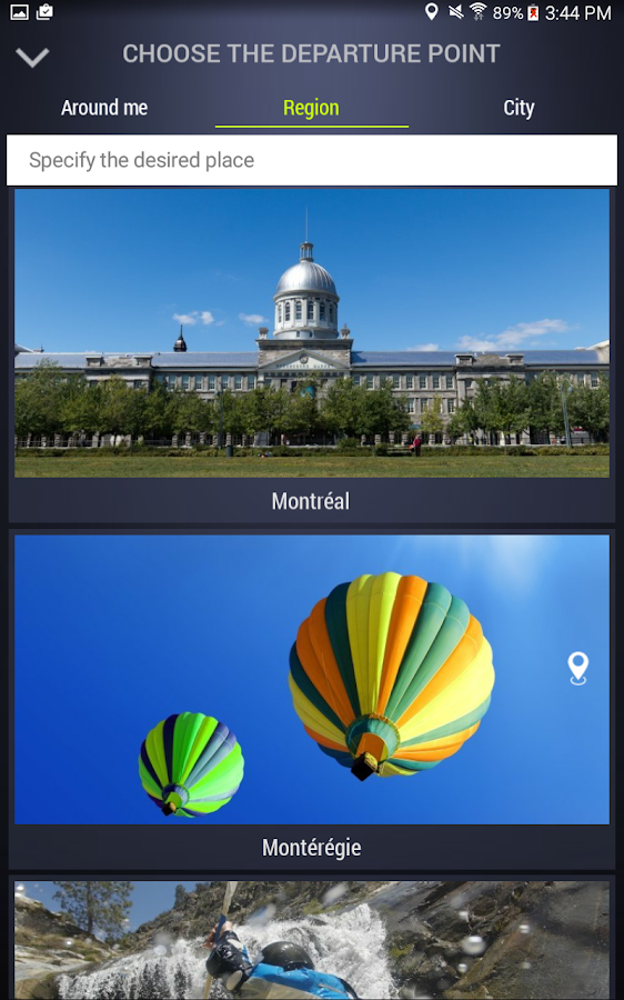 Quebec Tourism- screenshot