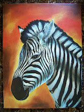 "Photo: Zebra 18"" x 24"" oil on canvas.  $299.00"