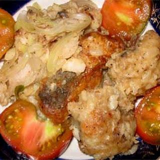 Ukrainian Fried Hake with Onion