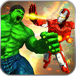 Incredible Monster vs Iron Robot Avenger City Hero Icon