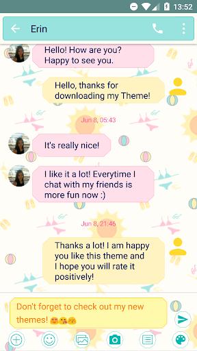 SMS Messages Summer Theme screenshots 2