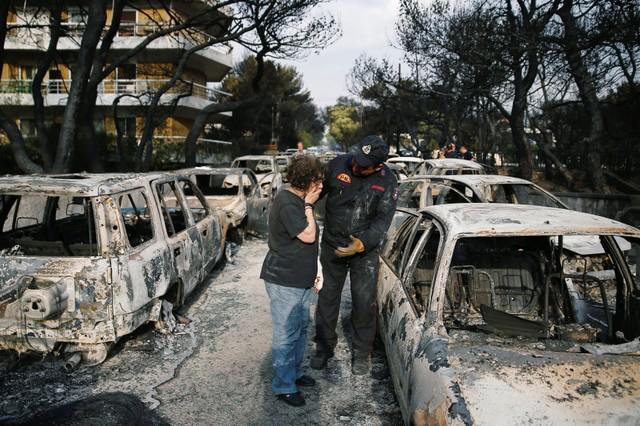Αποτέλεσμα εικόνας για greece wildfires in mati