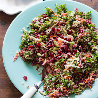 Healthy Kale + Quinoa Salad With Ginger-curry Vinaigrette