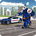 Police Panda Robot Shooting- Transform Robot Games icon
