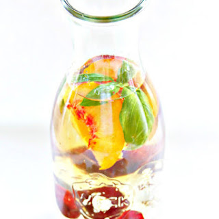 Peach and Cherry Summer Sangria