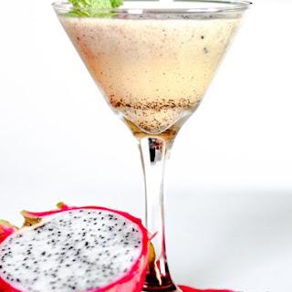Dragon Fruit Bourbon Cocktail.