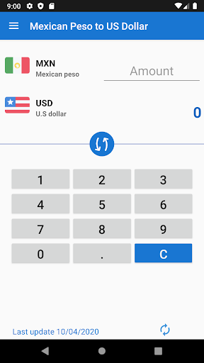 Mexican Peso To Us Dollar Converter