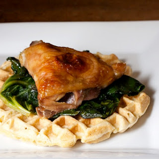 Healthier Chicken and Waffles.