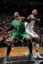 Photo: NEW YORK, NY - NOVEMBER 15: Jared Sullinger #7 of the Boston Celtics battles for rebound position against Andray Blatche #0 of the Brooklyn Nets on November 15, 2012 at the Barclays Center in the Brooklyn borough of New York City.  NOTE TO USER: User expressly acknowledges and agrees that, by downloading and or using this photograph, user is consenting to the terms and conditions of the Getty Images License Agreement. Mandatory Copyright Notice: Copyright 2012 NBAE  (Photo by Nathaniel S. Butler/NBAE via Getty Images)