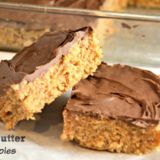 Scotcheroos - Peanut Butter Rice Krispies.