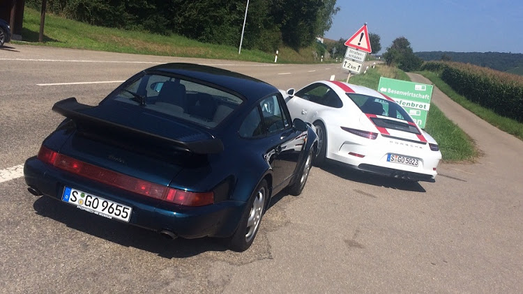 The legendary icon that is the 964 Turbo and a possible future icon, the 911R