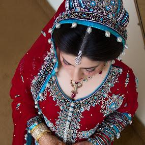 Asian Bride by Awais Javed - Wedding Bride ( canon, pakistan, canon  60d, traditional, bride, asian )