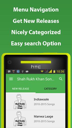 Shah Rukh Khan Songs Hindi