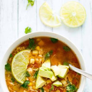 Crockpot Spicy Chicken Soup.