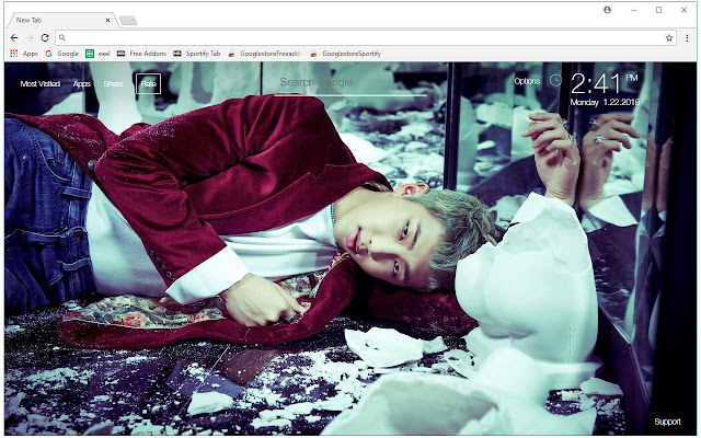 Bts Rap Monster Wallpaper Bangtan Boys Themes Free Addons