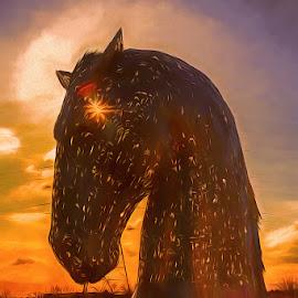 by Jim Cunningham - Digital Art Animals