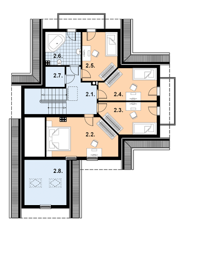 L-77 z bali - Rzut poddasza