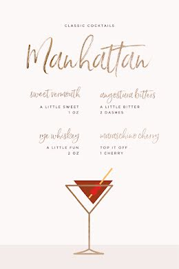 Classic Manhattan - Pinterest Pin item